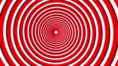 hypnotist : Spiral hypnotic animation. Red and white looping. animation. Stock Footage