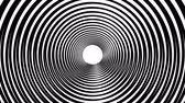 hypnotist : Spiral hypnotic animation. Black and white looping. animation. Stock Footage