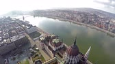 wegry : Birds eye view on Hungarian parliament in Budapest