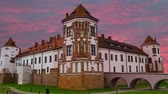 Medieval castle in the city of Belarus