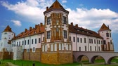 Medieval castle in the city Mir of Belarus