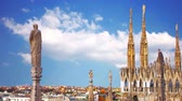 Milan Italy, view of the city of Duomo
