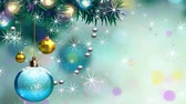 pohlednice : festive christmas background with balls and snowballs.