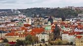 praga : Beautiful view of the historical center of Prague, Czech Republic.