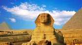 hyeroglyphes : Ancient sphinx and pyramids, symbol of Egypt