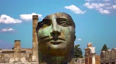 kampanya : The city of Pompeii, destroyed in 79 BC. the eruption of mount vesuvius. Stok Video