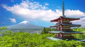 efsanevi : Japanese temple and Mount Fuji view