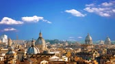 gypsy : Beautiful panorama of the gorgeous city of Rome, Italy Stock Footage