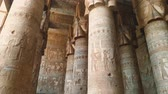 hyeroglyphes : Temple of Hathor. Egypt, Dendera, near the city of Ken.