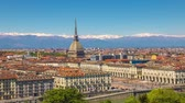 kret : Traditional view of the Italian Turin and Mole Antonelliana, timelapse.