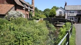 travel : Picturesque pack horse bridge Allerford Somerset England UK on a beautiful summer day Wideo