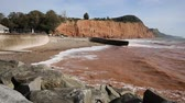 seixo : Jurassic coast Sidmouth beach Devon England UK to the east