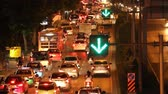 traffic jam in city Stock Footage