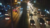 questões sociais : traffic jam in city Stock Footage