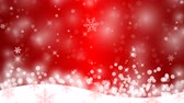 Winter background with snowflakes Stock Footage