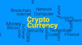 Crypto Currency animated word and text design, Kinetic Typography