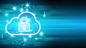 Cloud computing with padlock icon technology, Cyber Security Data Protection Business Technology Privacy concept, Internet Concept of global business. Dostupné videozáznamy