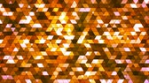 Broadcast Twinkling Squared Hi-Tech Triangles, Orange, Abstract, Loopable, 4K