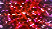 Broadcast Twinkling Squared Hi-Tech Triangles, Red, Abstract, Loopable, 4K