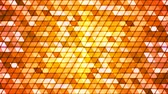 Broadcast Twinkling Cubic Hi-Tech Triangles, Orange, Abstract, Loopable, 4K
