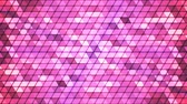 Broadcast Twinkling Cubic Hi-Tech Triangles, Pink, Abstract, Loopable, 4K