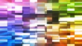 vintage : Twinkling Horizontal Small Squared Hi-Tech Bars, Multi Color, Abstract, Loopable, 4K Stock Footage