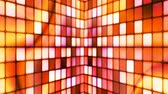 gamma : Broadcast Twinkling Hi-Tech Cubes Walls, Orange, Abstract, Loopable, 4K Stock Footage