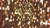 soir??e dansante : Broadcast Firey Light Hi-Tech Squares Walls, Brown, Abstract, Loopable, 4K