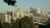 skytower : View from Parnell Rose gardens to Auckland city and central business district.