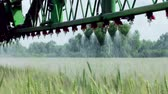 pesticide : Treatment of cereals against pests, insects and plant diseases Stock Footage