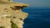 enseada : The rocky headland of Cabo de Palos. Landscape of Mediterranean coast in Spain. 4K