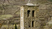 ミッド : Architecture of Andorra. The exterior of an ancient catholic church. 4K