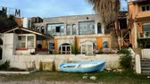 costruzioni : The building is an old abandoned hotel in Benitses in Greece. 4K