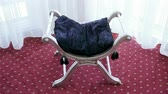 confortable : Elegant vintage chair with velvet cushion. 4K