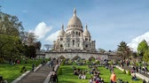 cathedral : Hyperlapse of Basilica of the Sacred Heart of Paris