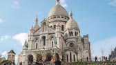 paryż : Hyperlapse of Basilica of the Sacred Heart of Paris