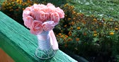 romance : Beautiful pink wedding bouquet