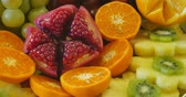 ananás : rich many fresh fruits on luxury wedding table at the reception, catering in restaurant