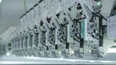 simplicity : Textile industry with knitting machines in factory