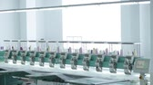 machinery : industrial textile machines in a row