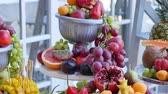 red seedless grapes : many different fruits an the wedding reception