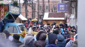cantar : Chernivtsi - Ukraine - January 15, 2018 The traditional annual days of Christmas folklore-ethnographic festival Malanka Fest 2018 n the Ukrainian city of Chernivtsi