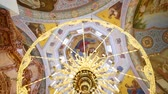 fresk : 30.01.2018, Chernivtsi, Ukraine - panning of ceiling of orthodox Cathedral