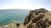 ランサローテ : Pan at playas papagayos in lanzarote showing ocean and beautiful water.