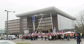 european court of human rights : STRASBOURG, FRANCE - 28 JAN 2015 Turkey diaspora demonstrates near European Court of HR before the Perincek vs. Switzerland case begin. Armenian government was represented by Amal Clooney