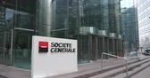 la defense : PARIS, FRANCE - CIRCA JAN., 2015:  Societe Generale (SocGen, GLE)  bank exterior and sign.  It has several branches - Retail Banking and Specialized Financial Services , Corporate and Investment Banking and Global Investment Management and Services.