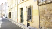 provence : AIX-ENPROVENCE, FRANCE - CIRCA 2015:  Cartiere Littera street name -traditional street in Aix-en-Provence, Bouches-du-Rhone, France Stock Footage