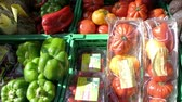 freshness : Diverse vegetables in the street store - basilic, potatoes, tomatoes, garlic, zucchini, peppers, avocado, apples, apricots, peaches, grapes, melons, cranberries, green melons