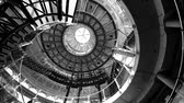 european court of human rights : STRASBOURG, FRANCE - CIRCA 2017: Modern concrete spiral stairs inside European Court of human Rights in Strasbourg - view from below rotation
