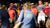 jutalom : STRASBOURG, FRANCE - JULY 10, 2018: People dancing in central square after the victory of France qualify for the final of the 2018 FIFA World Cup after their victory over Belgium 1-0